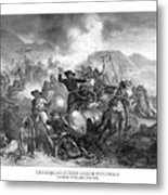 General Custer's Death Struggle  Metal Print