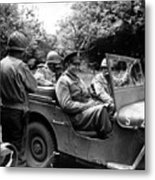 General Eisenhower In A Jeep Metal Print