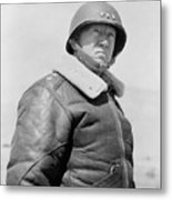General George S. Patton Metal Print by War Is Hell Store