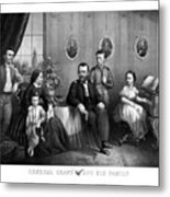 General Grant And His Family Metal Print