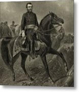 General Grant On Horseback  Metal Print