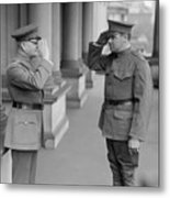 General John Pershing Saluting Babe Ruth Metal Print