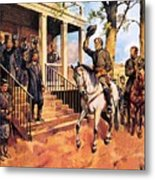 General Lee And His Horse 'traveller' Surrenders To General Grant By Mcconnell Metal Print