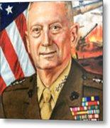 General Mattis Portrait Metal Print