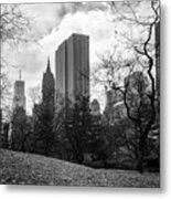 General Motors Building In Autumn, New York Metal Print
