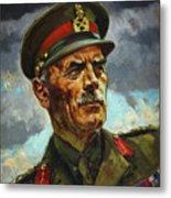 General Sir Alan Cunningham Metal Print