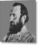 General Stonewall Jackson Profile Metal Print