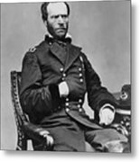 General William Sherman Metal Print by War Is Hell Store