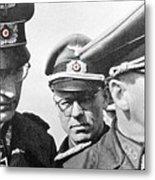 Generalfeldmarschall  Erwin Rommel And Staff Number 1 North Africa 1942 Color Added 2016 Metal Print