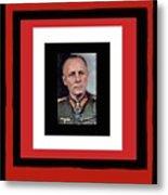 Generalfeldmarschall  Erwin Rommel  In Color Circa 1942 Frames Added 2016 Metal Print