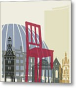 Geneva Skyline Poster Metal Print
