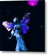 Genie And The Moon Metal Print