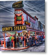 Geno's Cheesesteaks Metal Print