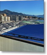 Genova Town Landscape From Abandoned Office Building Roof Metal Print