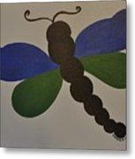Gensis 1 Dragonfly Metal Print