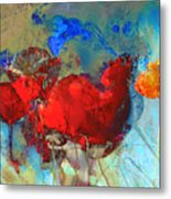 Gentle Poppies Metal Print