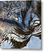 Gentle Rapids Ripple Swirl In River-5 Metal Print
