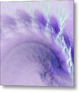 Gentle Wave Of Purple Metal Print