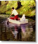 Gently Down The Stream Metal Print