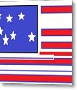 Geo Flag Metal Print