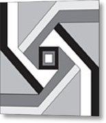 Geoblock23bnw Metal Print