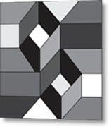 Geoblock52bnw Metal Print