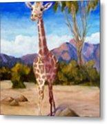 Geoffrey Giraffe Metal Print