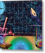 Geography And Voyaging Homage To Joseph Cornell Metal Print