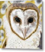 Geometric Barn Owl Metal Print