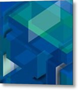 Geometric Composition  Metal Print