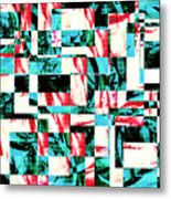 Geometric Confusion 2 Metal Print