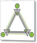 Geometric Design Series Three Metal Print