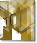 Geometric Gold Composition Metal Print