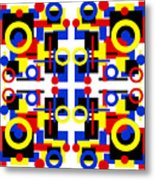 Geometric Shapes Abstract Square 2 Metal Print