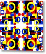 Geometric Shapes Abstract Square 3 Metal Print