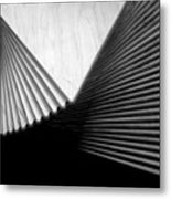 Geometric Shapes And Stairs Metal Print