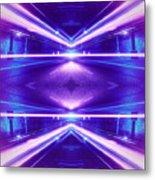 Geometric Street Night Light Pink Purple Neon Edition  Metal Print