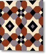 Geometric Textile Design Metal Print