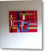 Geometrical Abstract Metal Print