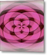 Geometrical Colors And Shapes 4 - Hearts Metal Print