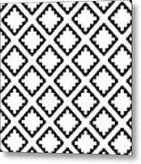 Geometricsquaresdiamondpattern Metal Print