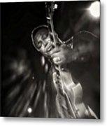 George Benson Black And White Metal Print