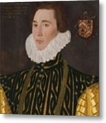 George Gower Portrait Of Thomas Slingsby 1556  1579 1577 Metal Print