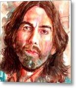 George Harrison Portrait Metal Print