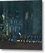 George Luks   Blue Devils On Fifth Avenue   1918 Metal Print