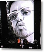 George Michael Sends A Kiss Metal Print