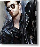 George Michael Singer Metal Print