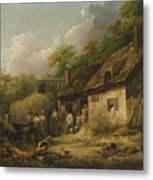 George Morland  The Bell Inn Metal Print
