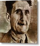 George Orwell Author Metal Print