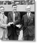 George Sisler - Babe Ruth And Ty Cobb - Baseball Legends Metal Print by International  Images